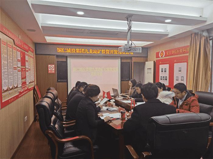 铜仁城投集团九龙亿博国际官网投资开发公司党 支部召开12月党员大会